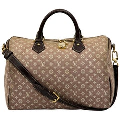 LOUIS VUITTON Speedy 30 Bag in Parma and Beige Monogram Canvas
