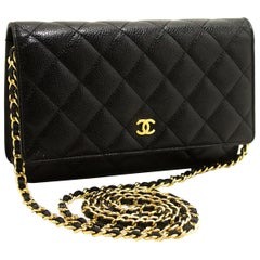 Chanel Caviar Wallet On Chain WOC Black Crossbody Shoulder Bag