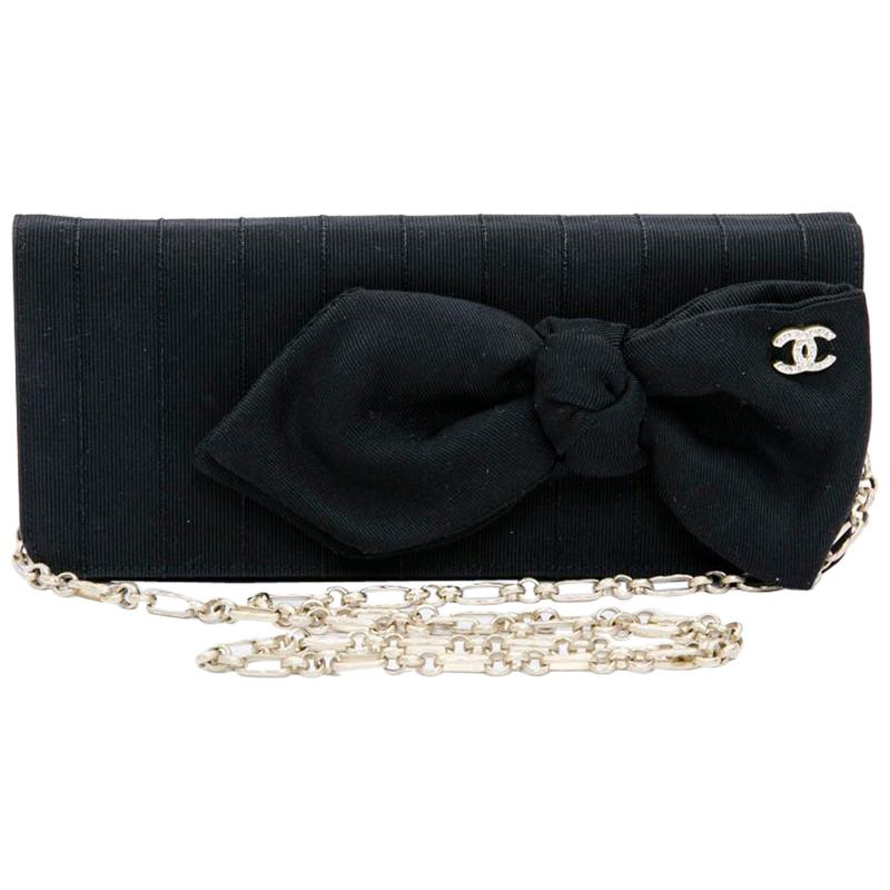 CHANEL Evening Clutch in Black Fabric