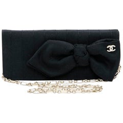 CHANEL Evening Clutch in Black Fabric