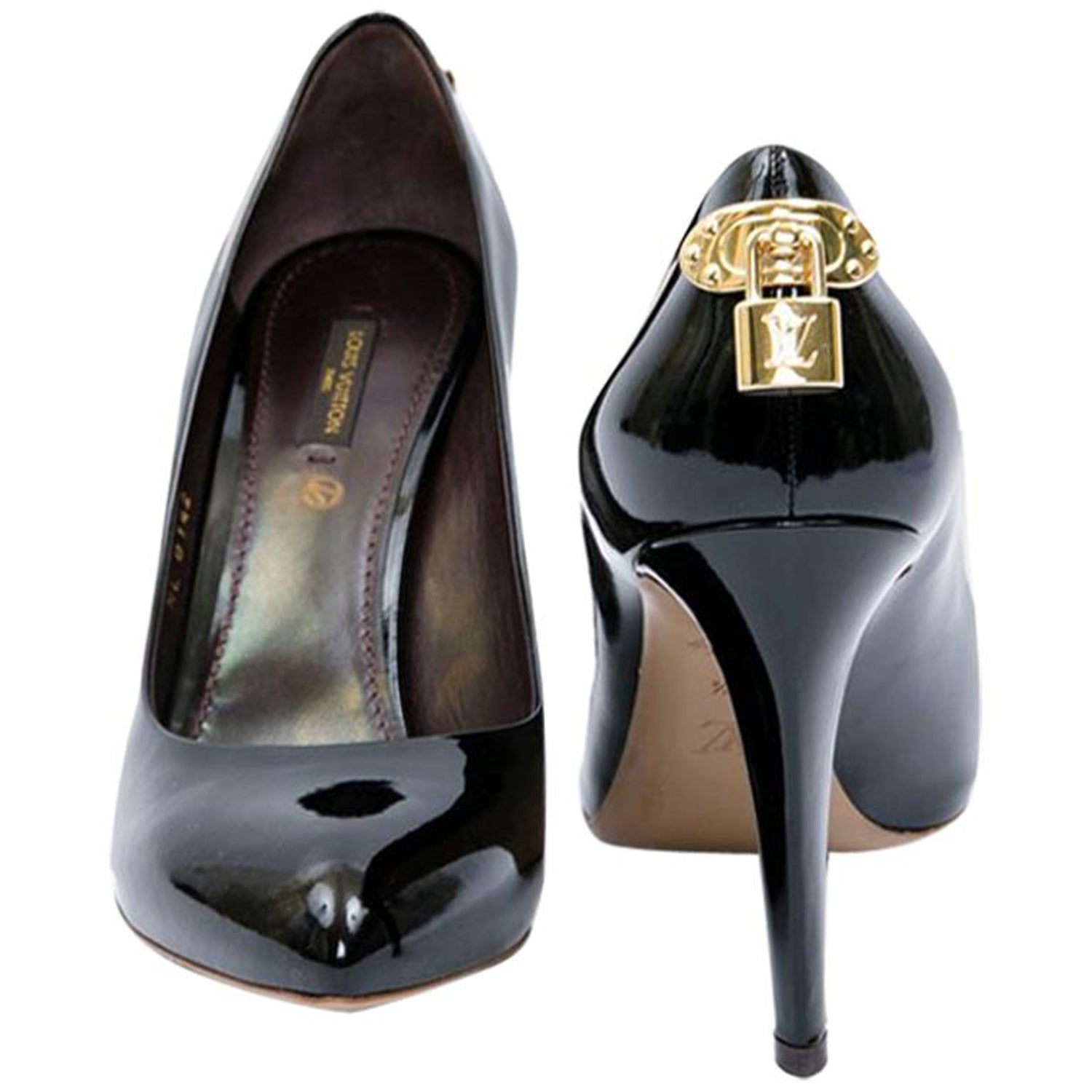 234787aa2c95 LOUIS VUITTON  Oh Really  High Heels in Black Patent Leather Size 39.5FR at  1stdibs