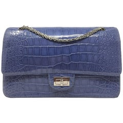 Chanel Bag Blue Shine Crocodile 2.55 Reissue Double Flap Timeless Bag, 2012