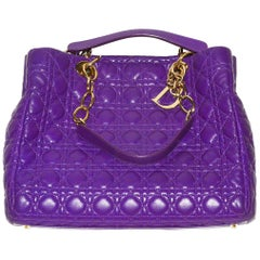 Chic, Gorgeous Purple Dior Quilted Shoulder Bag/Tote