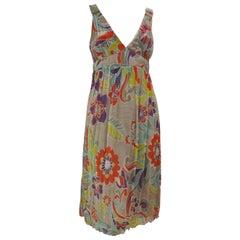 "1980s Chacok ""Marina"" Silk Dress 38/40Fr"