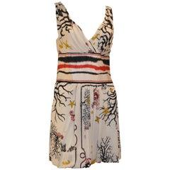 "Class Cavalli ""Sea Creatures"" Mini Dress (44ITL)"