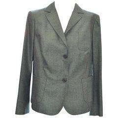 A.K.R.I.S Green Silk Weave Jacket/Blazer Size 14US