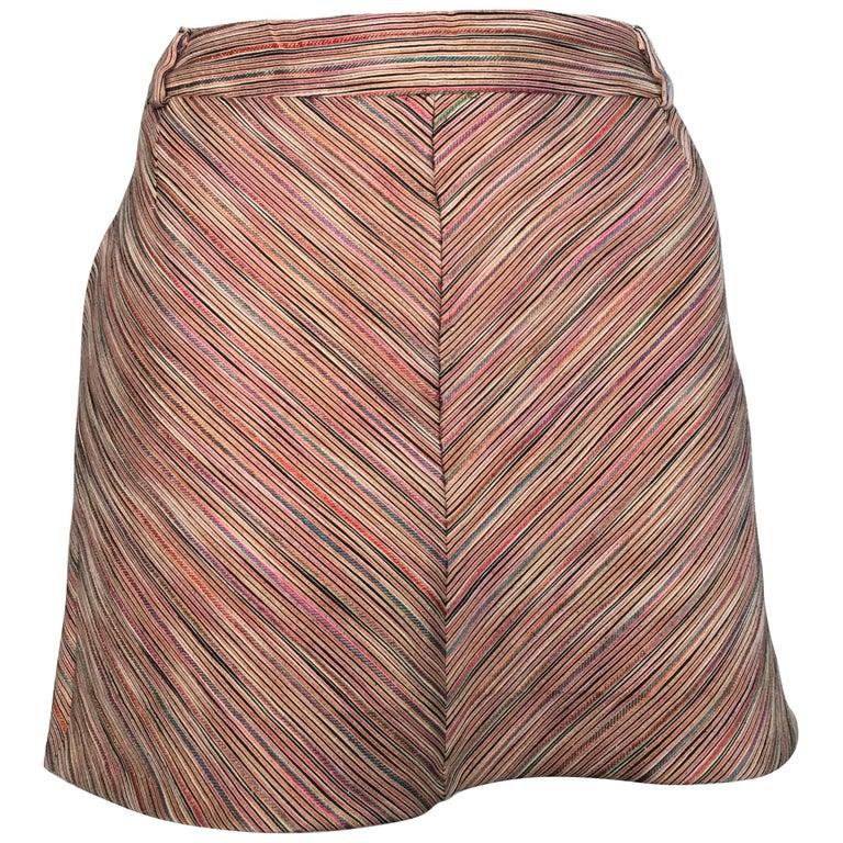 Missoni Mini Skirt with Pockets Size 6.