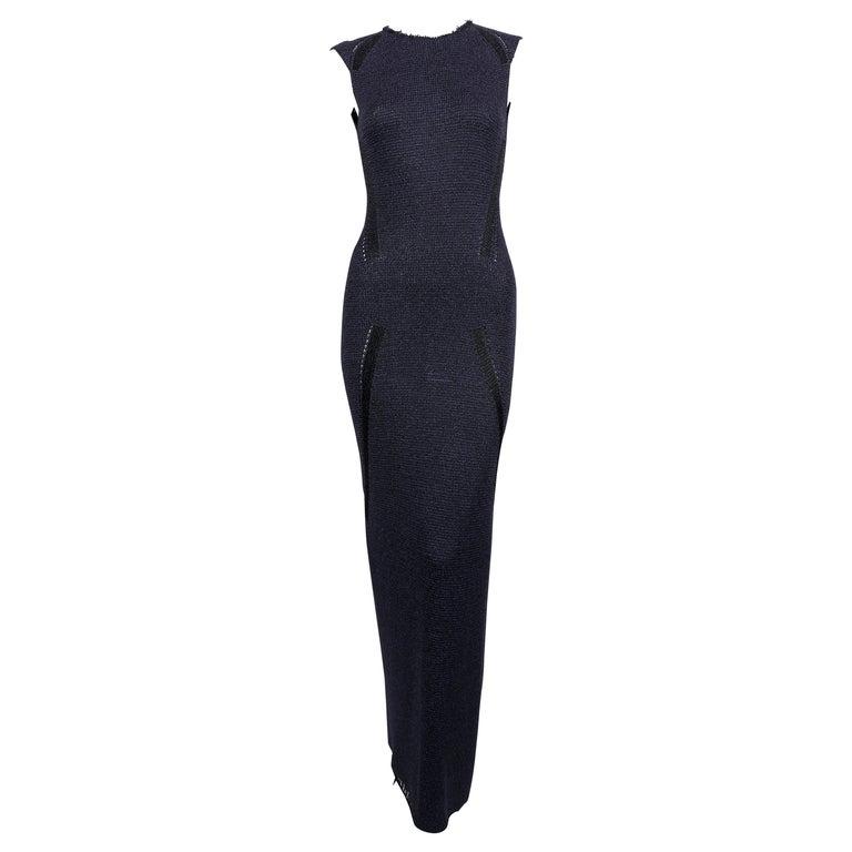 CELINE by PHOEBE PHILO navy and black knit dress