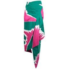 1979 ISSEY MIYAKE printed wrap skirt