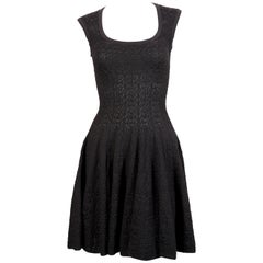 "Azzedine Alaia black knit ""Muguet"" dress"