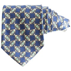 Valentino Mens Neck Tie Silk Abstract Print Italy