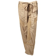 Balenciaga By Nicolas Ghesquiere tan cargo runway pants, 2002