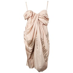 Dior By John Galliano draped silk dress with brass rings, 1990s