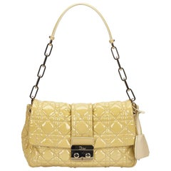 Dior Yellow Leather New Lock Flap Bag