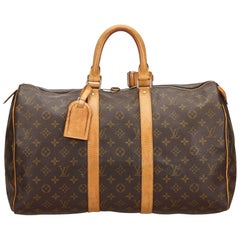 Louis Vuitton Brown Monogram Keepall 45