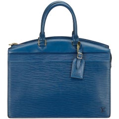 Louis Vuitton Blue Epi Riviera