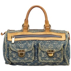 Louis Vuitton Denim x Brown Monogram Denim Neo Speedy