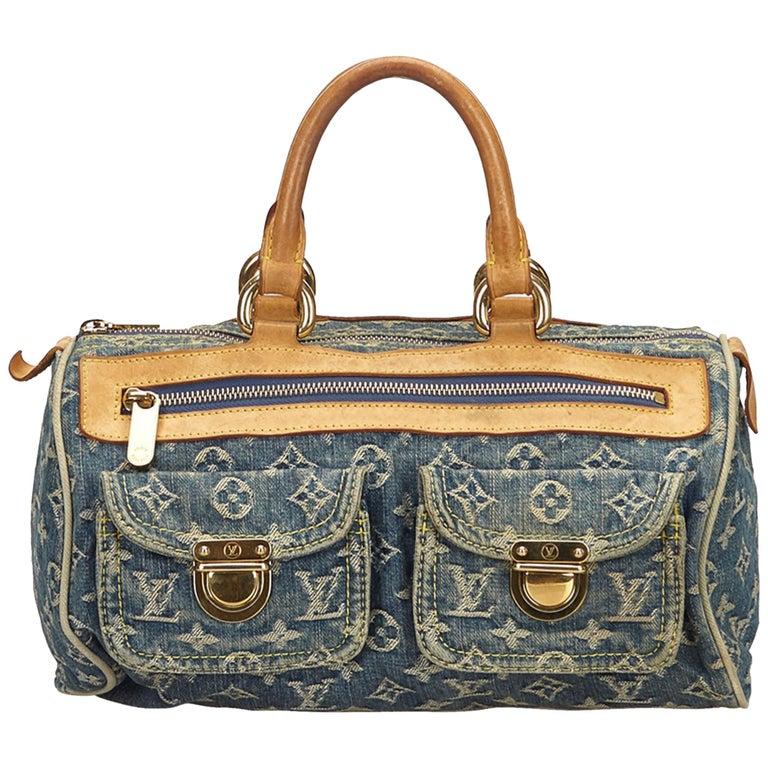 cbd206099751 Louis Vuitton Denim x Brown Monogram Denim Neo Speedy For Sale at ...