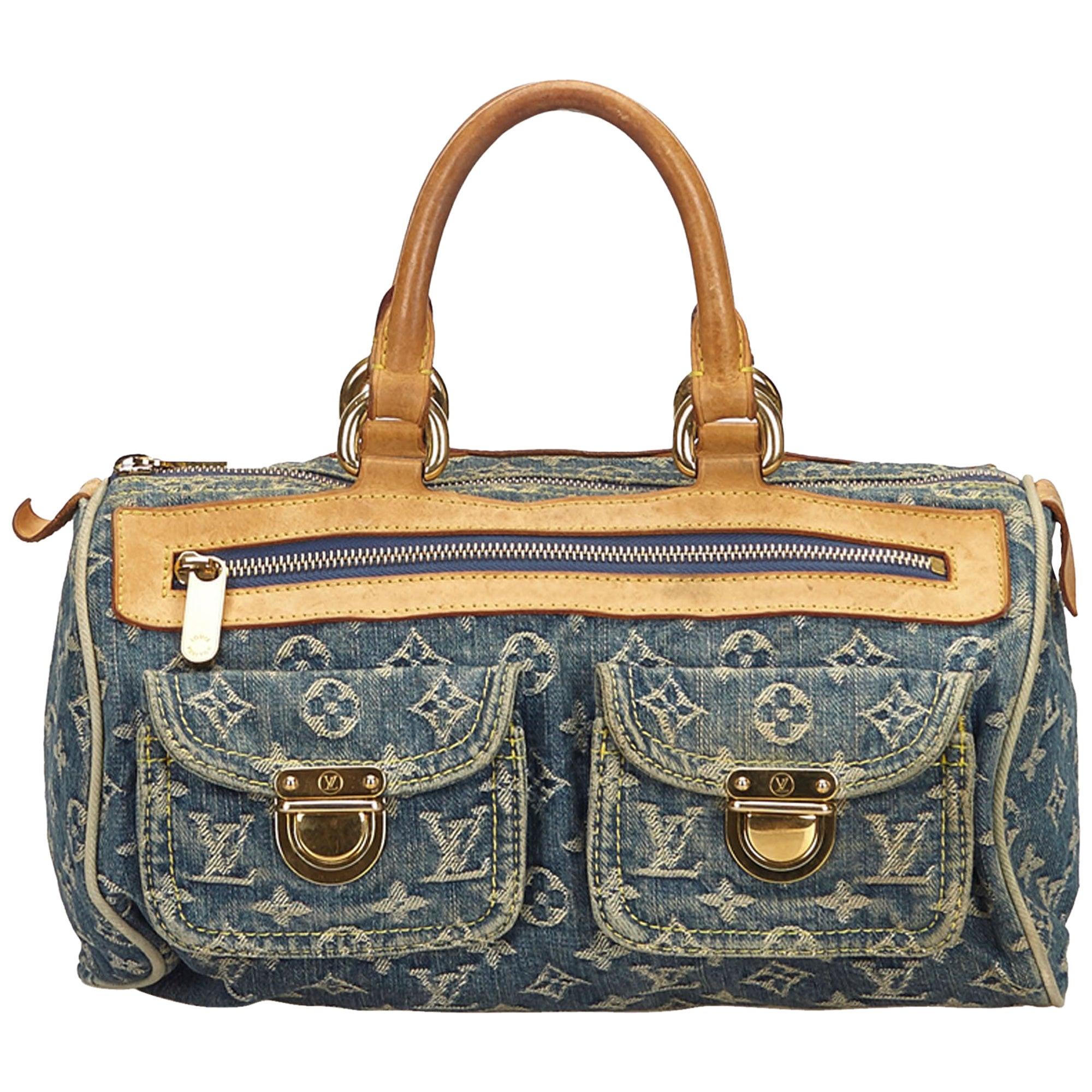 c7c785ffe157 Louis Vuitton Denim x Brown Monogram Denim Neo Speedy For Sale at 1stdibs