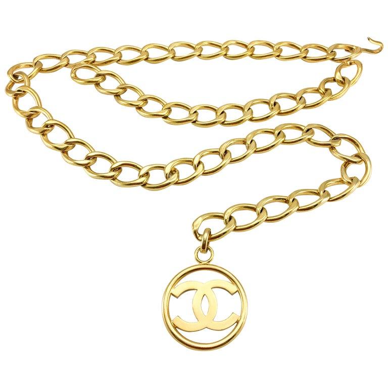 1992 Chanel Chunky Logo Chain Belt