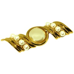 Large Pearl Brooch by Yves St Laurent