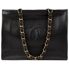 Chanel Black Lambskin Vintage Jumbo XL Timeless Shopping Tote, 1994