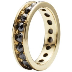 Black Rose Cut Diamond 18K Eternity Ring By Christopher Phelan