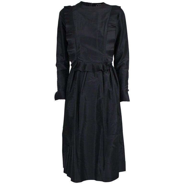 Chanel Silk Little Black Dress Circa 1970 For Sale At 1stdibs