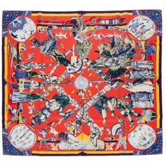 New in Box Collectible Hermes Les Danses des Indiens Scarf