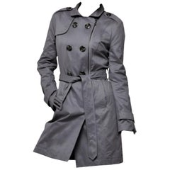 Kenneth Cole New Grey Cotton Coat Jacket Trench