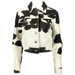 1990's Fendi Numbered Cow Print Ponyskin Jacket