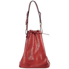 Red Louis Vuitton Epi Noe GM Bucket Bag