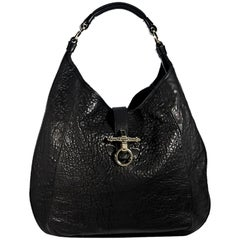 Givenchy Black Leather Obsedia Hobo Bag