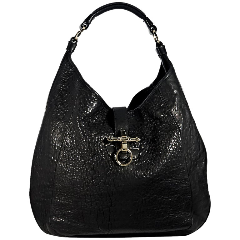 abb746f81bdc Givenchy Black Leather Obsedia Hobo Bag For Sale at 1stdibs