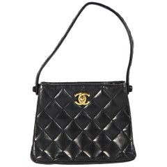 Chanel Black Quilted Leather Mini Evening Bag