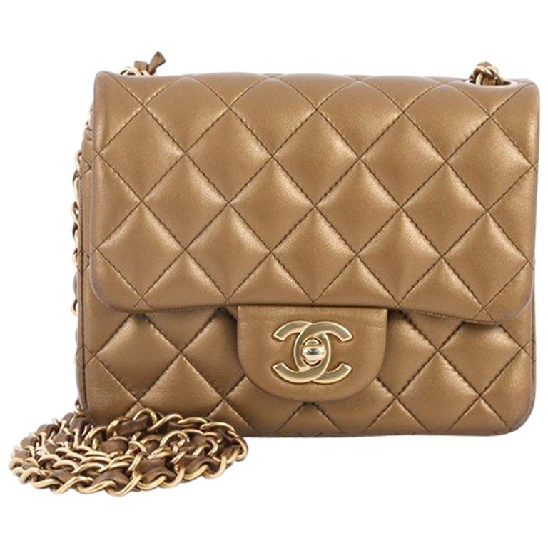de9543fb3d58 Chanel Square Classic Single Flap Bag Quilted Lambskin Mini at 1stdibs