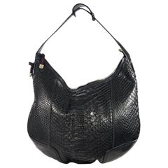 Black Gucci Python Hobo Bag