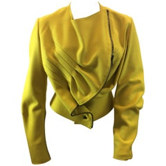 Yves Saint Laurent Yellow Wool Jacket