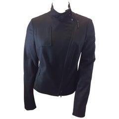 Akris Black Wool Zip Up Jacket