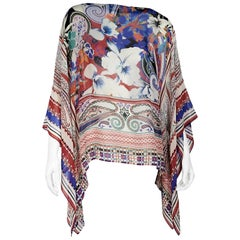 Multicolor Etro Printed Silk Scarf Top
