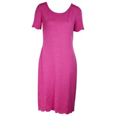 Pink St. John Knit T-Shirt Dress