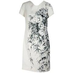 White Carolina Herrera Floral-Printed Shift Dress