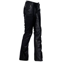 Black Gianni Versace Couture Leather Pants