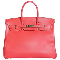 Hermes Rose Leather Birkin, 2014