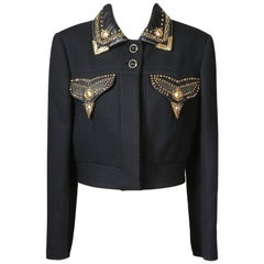 Versace Jacket with Embellished Pockets and Collar, early 1990s