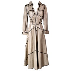 Fendi Leather Trench Coat Dress circa 1970s