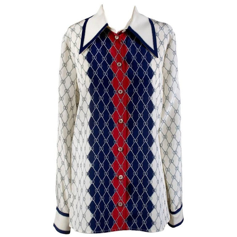 Gucci Silk Monogram Shirt, current Pre-Fall 2018