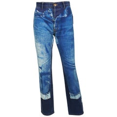 Jean Paul Gaultier Vintage Trompe L'oeil Denim Pants Trousers