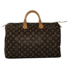 Louis Vuitton Monogram Speedy 40 Satchel Handbag