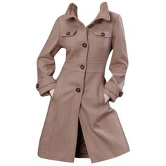 Kenneth Cole New Camel Wool Coat Jacket Trench